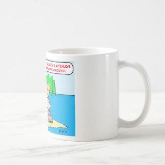 la isla del desierto externaliza lío taza de café