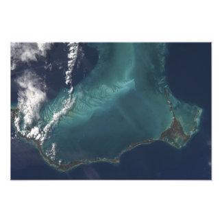 La isla estrecha muy larga de Eleuthra de las Fotografía