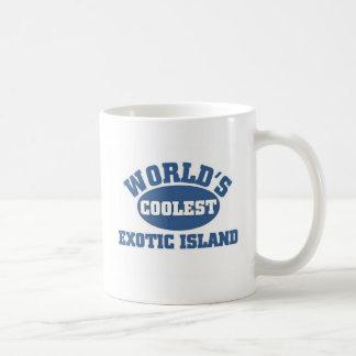 La isla exótica más fresca taza clásica