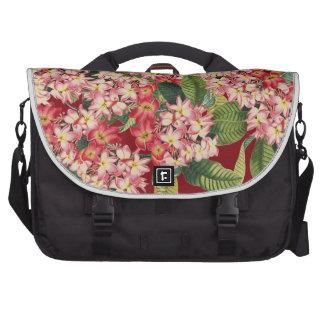 La isla floral del Plumeria florece el bolso del Bolsas De Ordenador