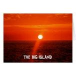 La isla GRANDE - Hawaii Tarjeta De Felicitación