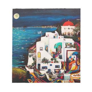La isla griega soña el cuaderno bloc
