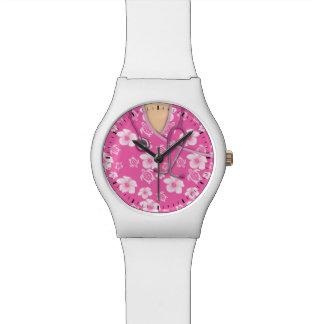 La isla rosada de Honu Tiki médica friega Reloj