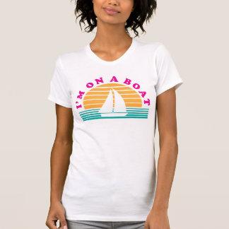 La isla sola en un barco remera