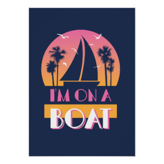 La isla sola - estoy en un barco póster