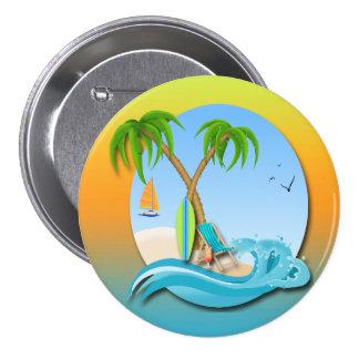 La isla soña el botón pin