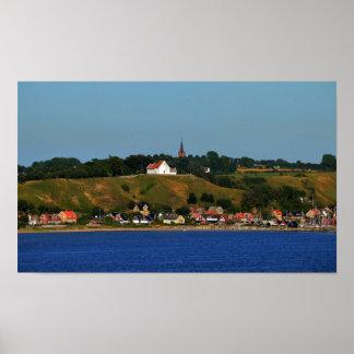 La isla sueca de Ven, Oresund 20x12 avanza Póster