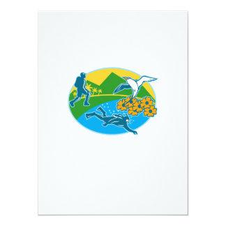 La isla Tropicbird del caminante del buceador Comunicado Personalizado