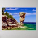 La isla verde de la maceta, Tobermory, Ontario flo Posters