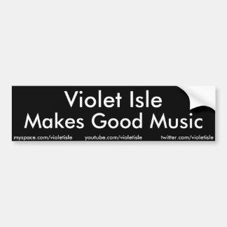 La isla violeta hace al buen pegatina de la música pegatina para auto