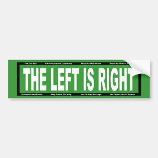 La izquierda correcta pegatina para coche