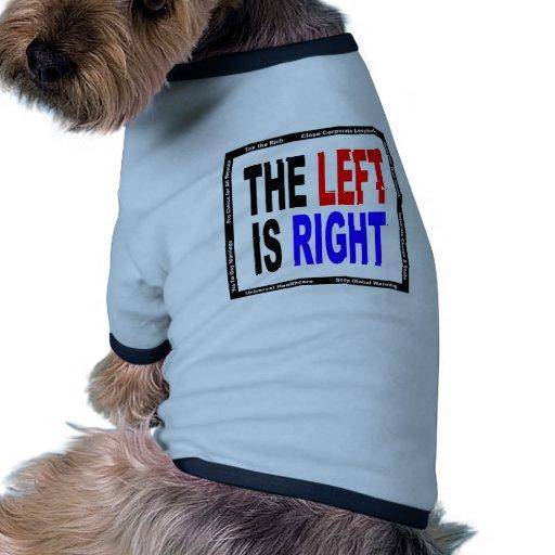 La izquierda correcta camisas de perritos