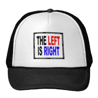 La izquierda correcta gorro de camionero