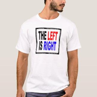 La izquierda correcta playera