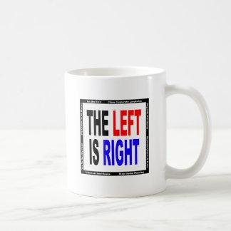 La izquierda correcta taza clásica