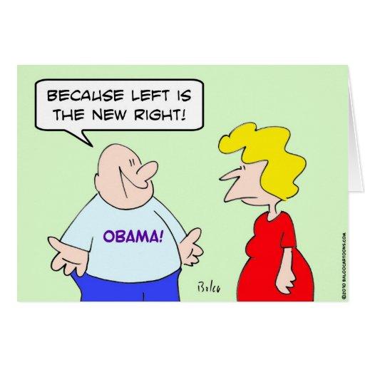 la izquierda el nuevo correcto obama tarjeta de felicitación