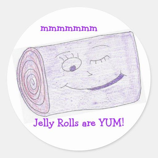 ¡La jalea Rolls es YUM! Pegatina Redonda