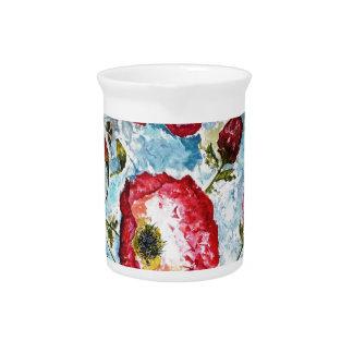 La jarra Amapola-Manosea diseño de la acuarela de