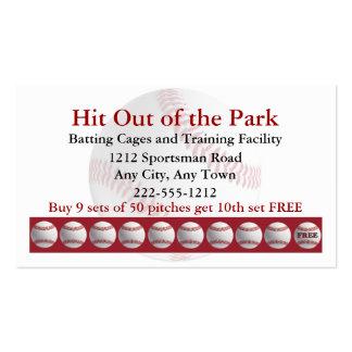 La jaula de bateo de béisbol se divierte la tarjetas de visita