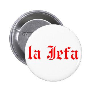 La jefa pinback button