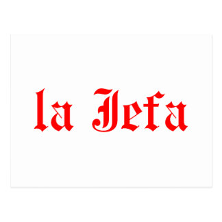 La jefa postcard