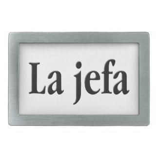 La jefa rectangular belt buckle