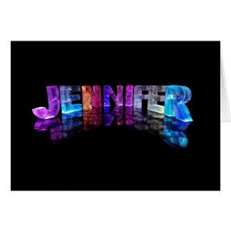 La Jennifer conocida en 3D se enciende (la fotogra Tarjeta De Felicitación