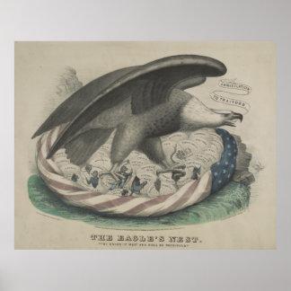 La jerarquía de Eagle la unión [1861] Póster