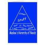 La jerarquía de Maslow de necesidades Tarjetas