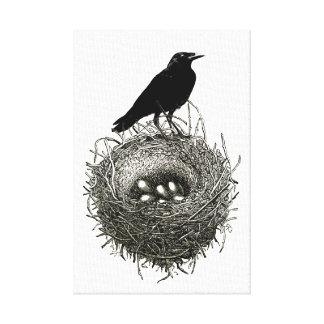 La jerarquía del cuervo impresión en lona estirada