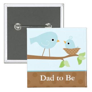 La jerarquía del pájaro de bebé (azul) pin