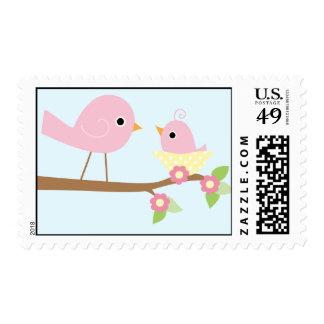 La jerarquía del pájaro de bebé (rosa) sellos