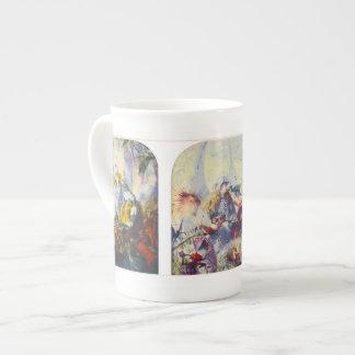 La jerarquía del pájaro - taza de la porcelana de  taza de porcelana
