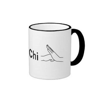 La ji del Tai del corazón de la taza de café I ent