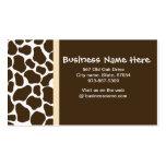 La jirafa de Brown mancha la tarjeta de visita