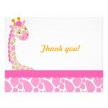 La jirafa del dulzor del safari le agradece nota-R Invitacion Personalizada