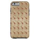 La jirafa del vintage modela el caso del iPhone 6