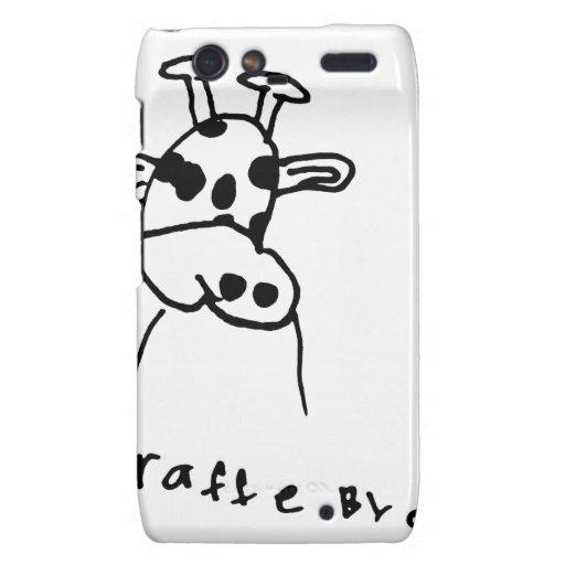 La jirafa embroma ideas del regalo del arte droid RAZR funda