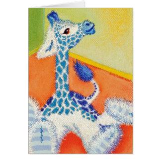 La jirafa en colores pastel hizo también tarjeta de felicitación