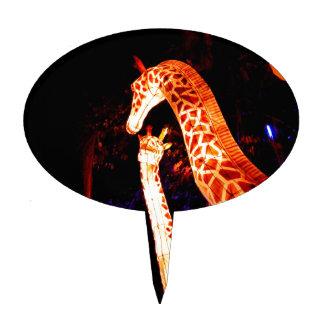 La jirafa enciende para arriba arte del festival decoración para tarta