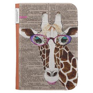 La jirafa enrrollada alterada del arte enciende la