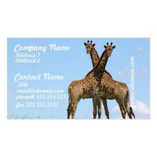 La jirafa hermana tarjetas de visita