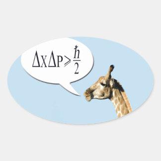 La jirafa lista explica el pri de la incertidumbre calcomanía de óval