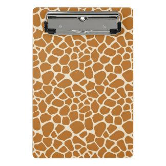 La jirafa mancha el mini tablero minicarpeta de pinza