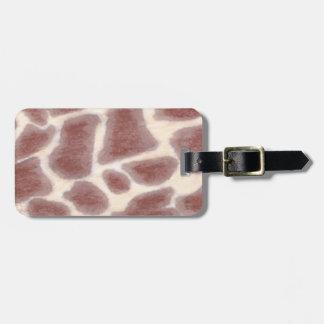 La jirafa mancha etiquetas del equipaje del modelo etiqueta para maleta