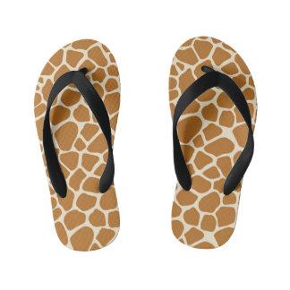 La jirafa mancha flips-flopes de los niños chanclas para niños