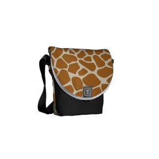 La jirafa mancha la bolsa de mensajero del carrito bolsa messenger