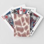 La jirafa mancha naipes del modelo barajas de cartas