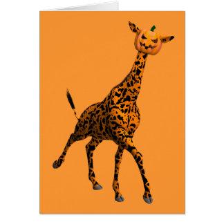 La jirafa más linda de Halloween Tarjeta De Felicitación