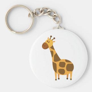 La jirafa personalizada embroma el regalo del dibu llavero